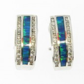 Gilson Opal & Diamond Earrings