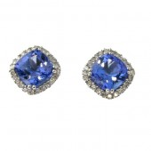 Tanzanite & Diamond Studs