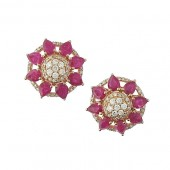 Rubies and Diamond Studs