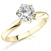 14k Yellow Gold 3/8 Ct. Solitaire Diamond Ring